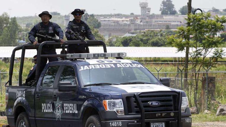 De Mexicaanse politie op patrouille. Beeld afp