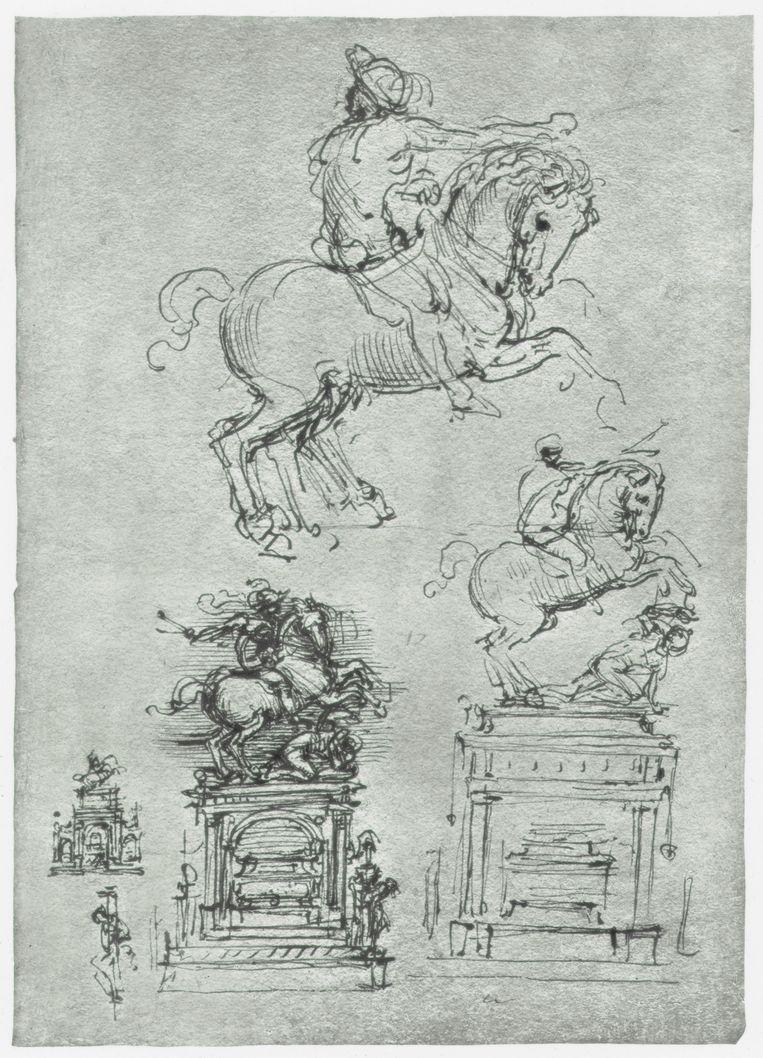 Het Trivulzio-monument. Beeld Print Collector/Getty Images