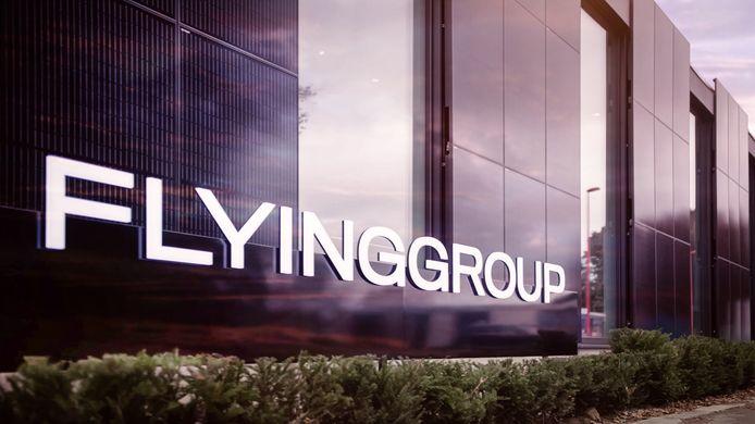 Het ultramoderne nieuwe gebouw van Flying Group op de Antwerpse luchthaven.