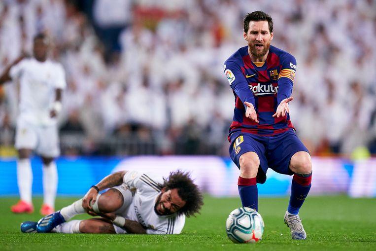 FC Barcelona verloor op 1 maart van dit jaar tegen en bij Real Madrid (2-0).  Beeld Getty Images