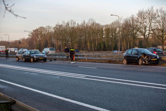 Ongeval op de A58.