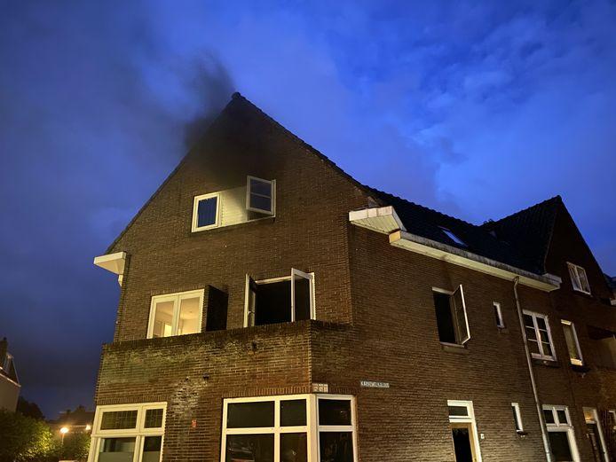 Brand door bouwstofzuiger in Gouda