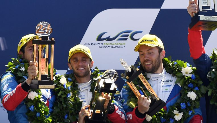 Nelson Piquet Jr (l), David Heinemeier Hansson (midden) en Mathias Beche krijgen een flinke opdoffer te verduren