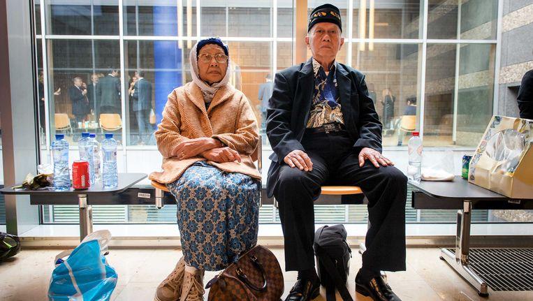 Nabestaanden in de rechtbank in Den Haag Beeld anp