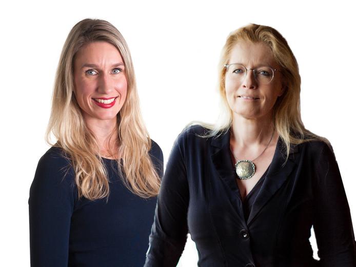 Links  Irene van den Berg en rechts Marianne Zwagerman.