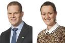 De Dordtse raadsleden Kevin Noels (D66) en Chris van Benschop (GroenLinks).