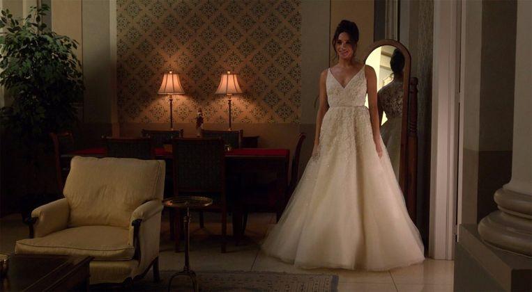 Meghan Markle als Rachel in Suits. Beeld Suits