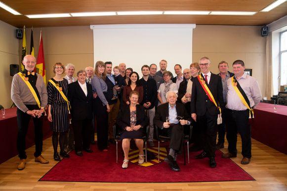 Daniël Beernaerts en Andréa Casier vierden in Melle hun diamanten huwelijk met hun familie en het gemeentebestuur.