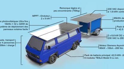 Met dit oude Volkswagen-busje op zonne-energie reist Fransman de wereld rond