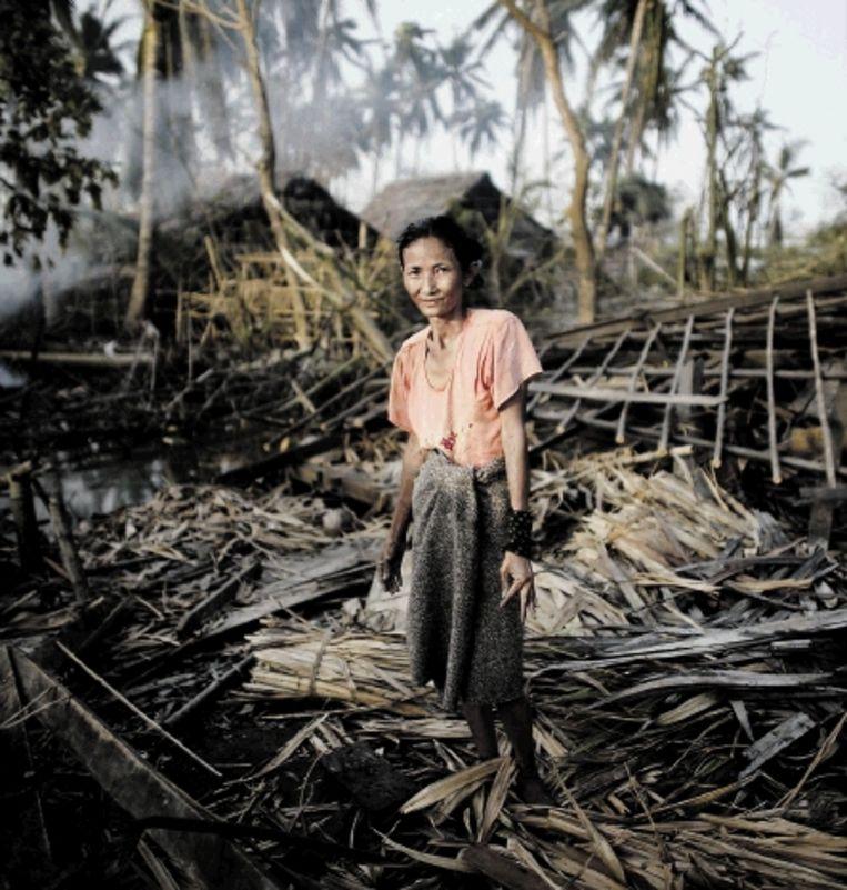 In Burma richt de cycloon Nargis enorme schade aan. ( FOTO REUTERS) Beeld REUTERS