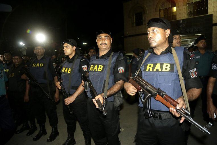 De politie en grenswacht hadden duizenden man extra op de been gebracht om tijdens de executie de veiligheid in de belangrijkste steden te bewaken. Beeld epa