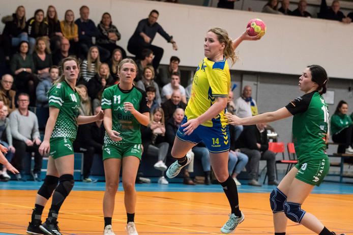 Eline Legtenberg scoorde er op los in de laatste reguliere wedstrijd van de competitie. Op doelsaldo wist Borhave zich vervolgens te plaatsen voor de kampioenspoule.