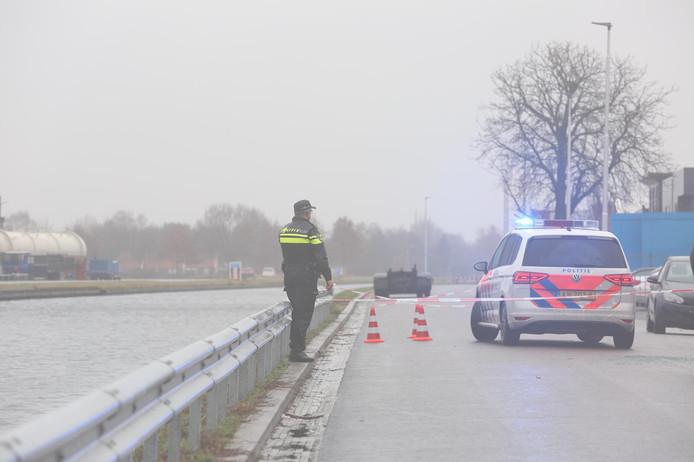 De locatie van de schietpartij aan de Kanaaldijk in Vriezenveen.