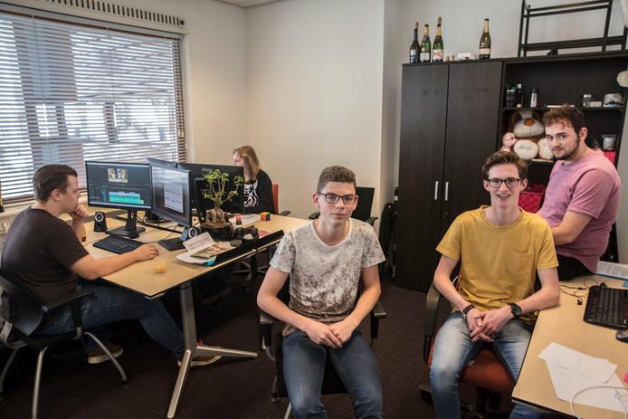 De Peelpioniers Roy van Schaijk, Ruud van Otterdijk en Martijn Hoeben (vlnr). Foto Ton van de Meulenhof