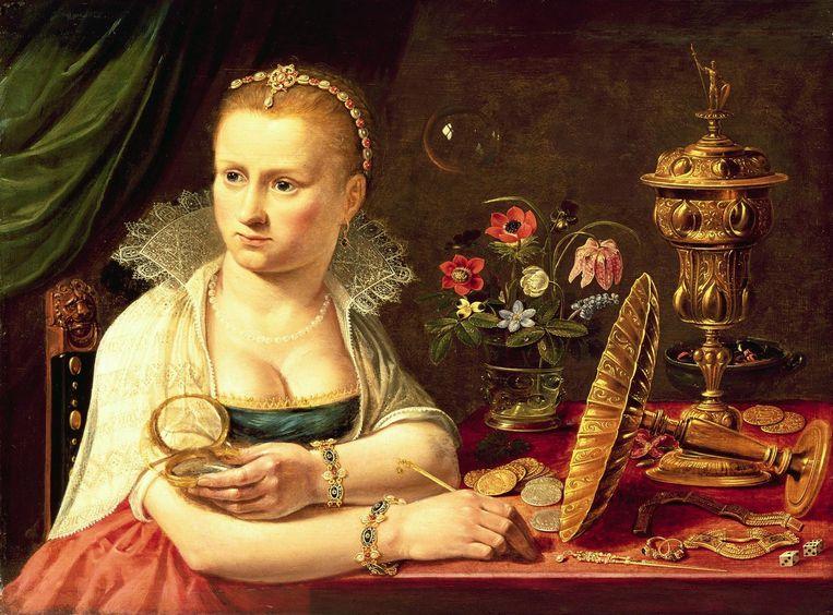 'Clara Peeters verwerkte in haar schilderijen vaak een stiekem zelfportret' Beeld Museo Nacional del Prado