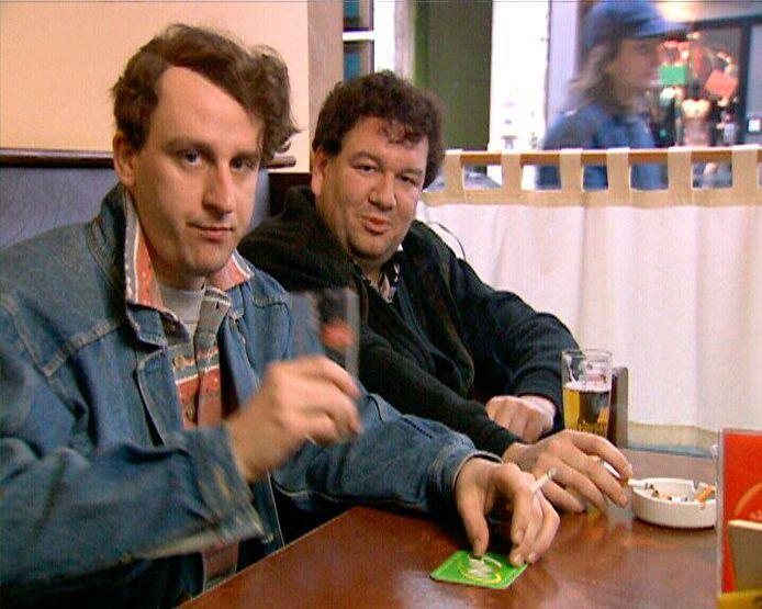 Tom Van Dijck en Wim Opbrouck speelden mee in In de Gloria, in 2001.