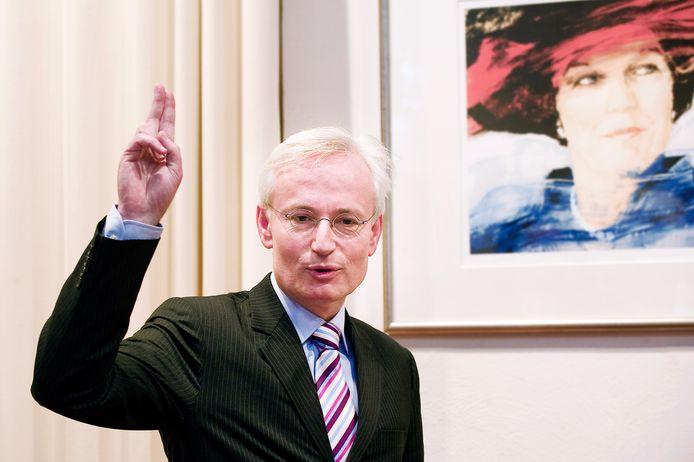 Hans Verheijen bij zijn installatie als burgemeester van Wijchen in 2012.