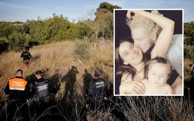 Bij de zoektocht naar de kinderen werd een grote politiemacht ingezet.