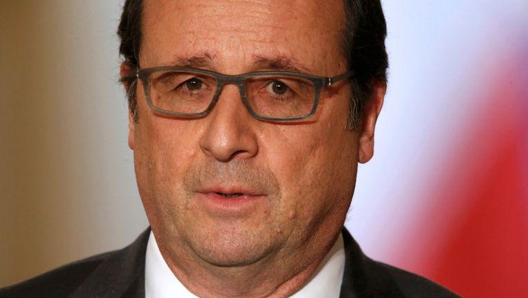 De Franse president Francois Hollande. Beeld reuters