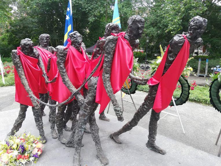 Het monument in het Oosterpark. Beeld Patrick Meershoek