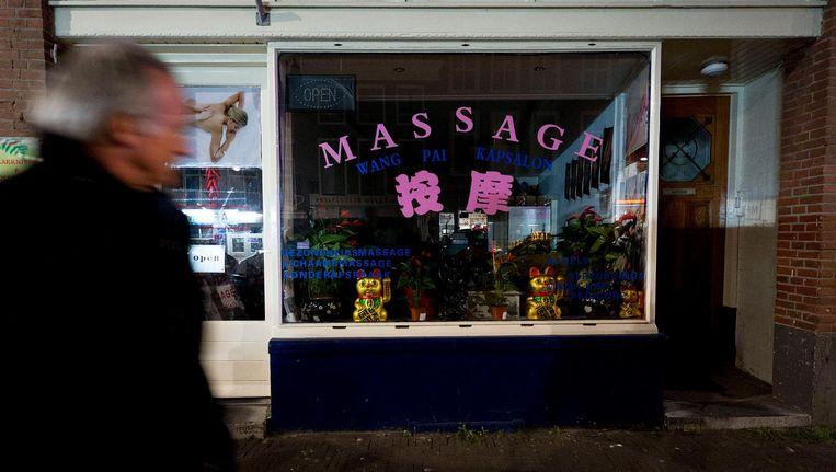 Een Chinese massagesalon in Den Haag. Beeld anp