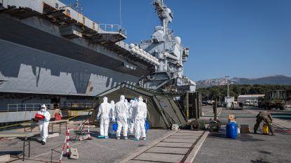 Bijna 1.000 opvarenden van Frans vliegdekschip besmet met coronavirus