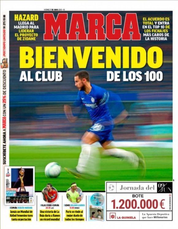 Marca verwelkomt Hazard.