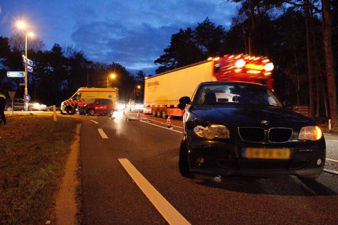 Het ongeluk vond plaats op de N302 bij Ermelo.