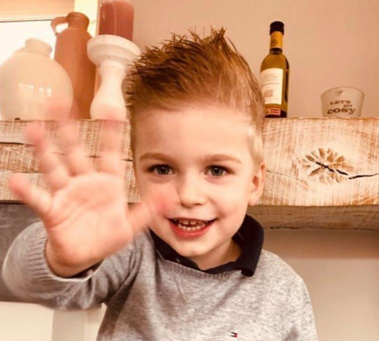 De kleine Loïc (3,5) zal altijd in de gedachten zijn van z'n ouders en broertje.