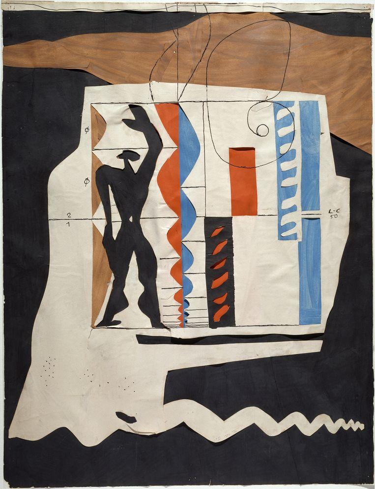 Le Modulor, 1950 van Le Corbusier. Beeld Collection Centre Pompidou, Musée national d'art moderne© Centre Pompidou / Dist. RMN-GP/ Ph. Migeat © FLC, ADAGP, Paris 2015