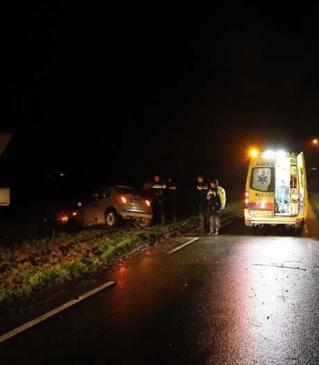 Auto belandt in de sloot in Wilbertoord