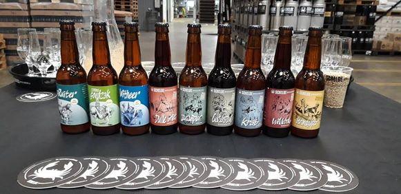 De bieren van de Scheldebrouwerij.