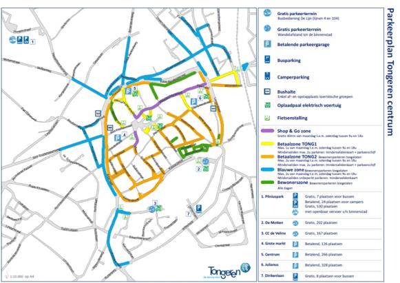 Nieuwe Parkeerplan Tongeren.