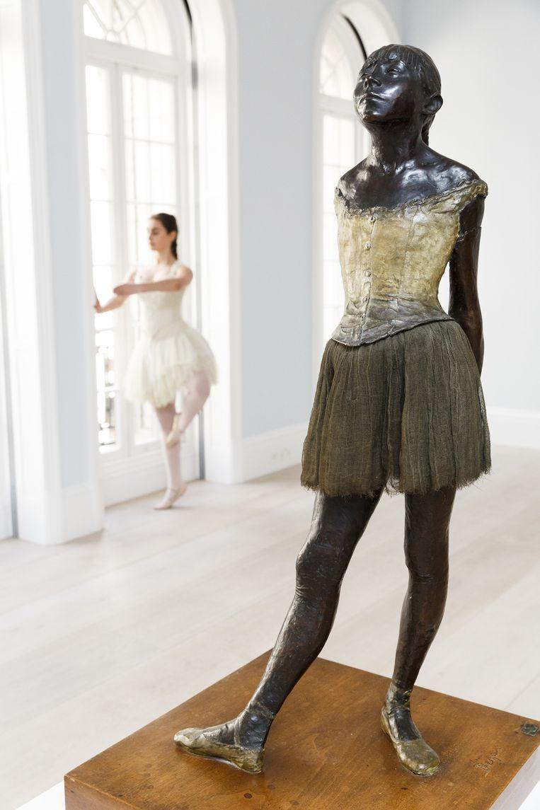 Edgar Degas' 'Petite Danseuse de quatorze ans' wordt een van de volgende dagen geveild bij Sotheby's in Londen.