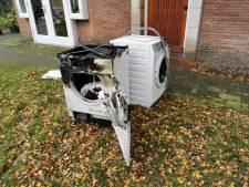 Wasdroger verwoest door brand op zolder van woning in Wageningen