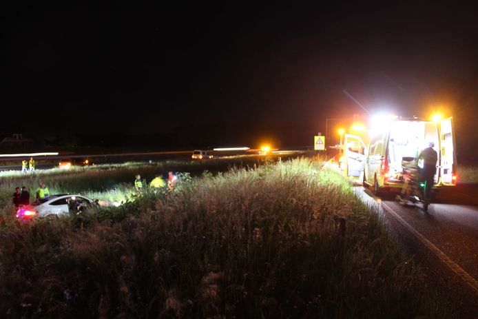 Ongeval op A1 bij Holten