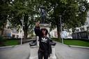 Een standbeeld van slavenhandelaar Edward Colston in Bristol heeft plaatsgemaakt voor een beeld van Black Lives Matter-activiste Jen Reid.
