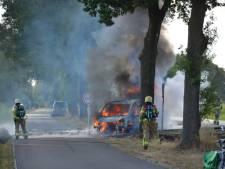 Bestelbus vol eten van Food Connect uit Almelo gaat in vlammen op