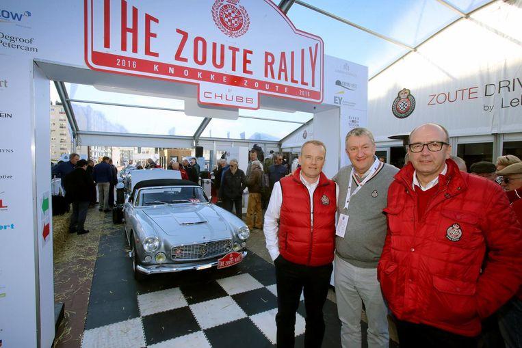 Een beeld van de Zoute Grand Prix vorig jaar met organisatoren David Bourgoo,