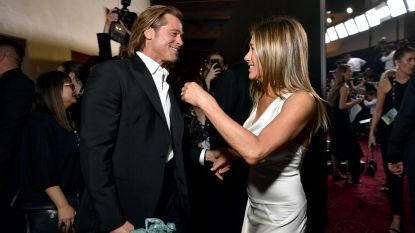 Komt die verzoening er dan toch? Aniston en Pitt eisen alle aandacht op tijdens SAG Awards