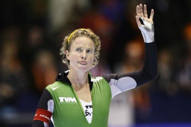 Renate Groenewold kan zich vrijdag als eerste Nederlandse schaatsster plaatsen voor de Olympische Spelen. ANP Beeld