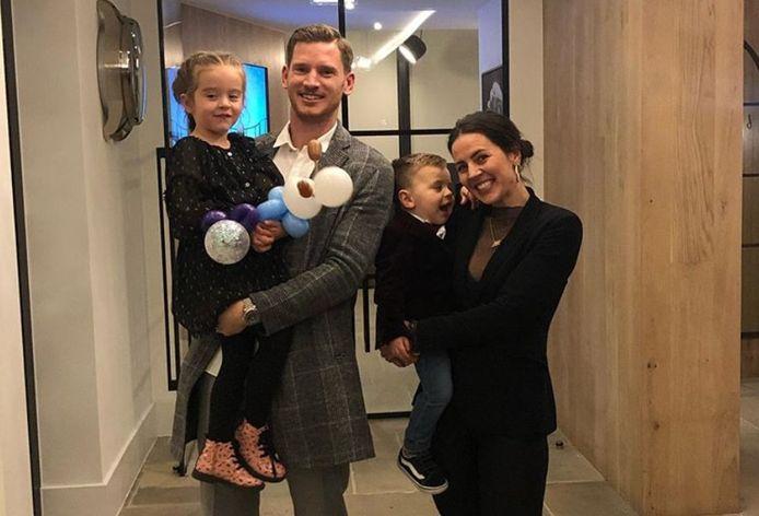 Jan Vertonghen, sa compagne Sophie et leurs deux enfants