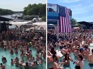 """Les images d'une """"pool party"""" géante aux États-Unis font scandale"""