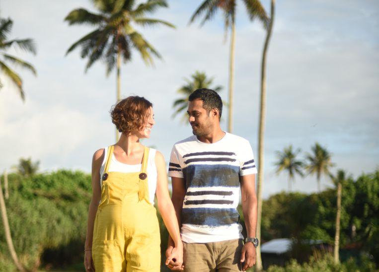 De 37-jarige Hasseltse Elke Bancken en haar man Manoj (35).