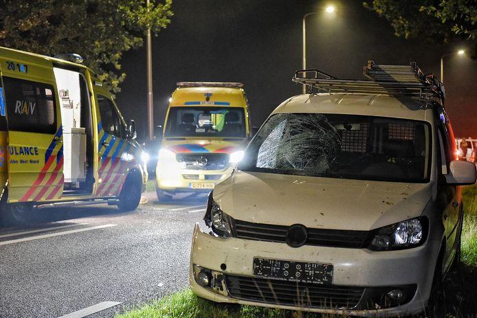 Ongeluk met fietser en automobilist in Alphen.
