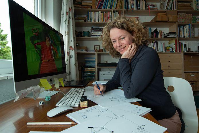 Iris Boter uit Kampen veranderde haar manier van tekenen. Minder netjes, losser. Daardoor is ze gevraagd voor het nieuwste boek van bestsellerauteur Carry Slee dat later dit jaar verschijnt.