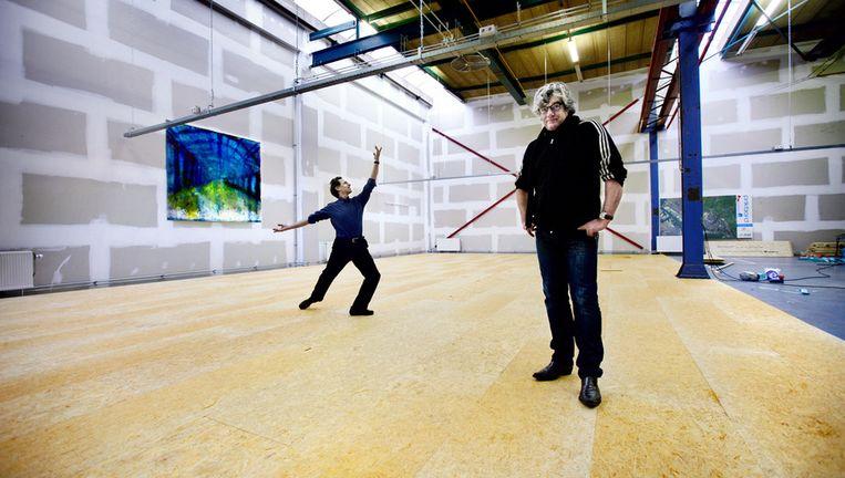 Gary Feingold (links) en Ger Jager in 2012, toen ze nog eensgezing lobbyden voor het Danshuis Beeld Jean-Pierre Jans