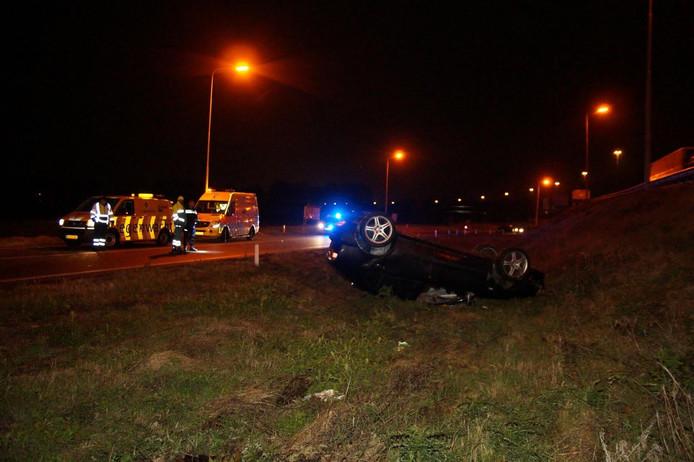 Ongeluk op A59 bij Drunen.