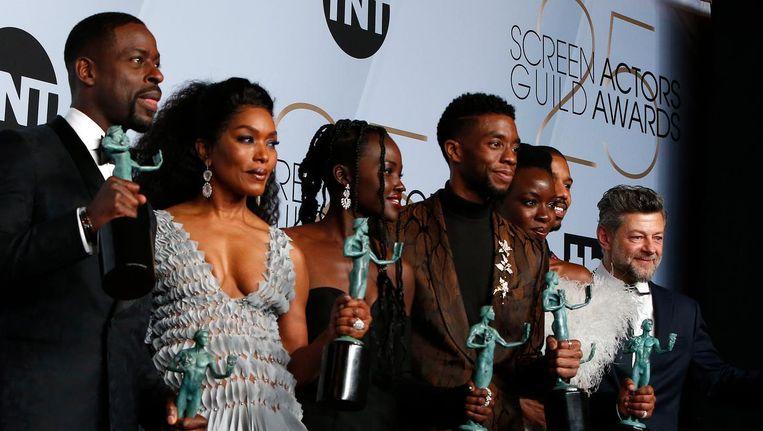 De cast van Black Panther Beeld anp