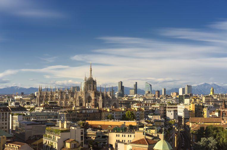 Milaan, het financiële hart van Italië, in Lombardije.